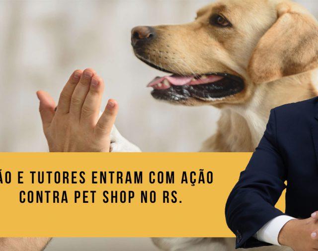 Cão e tutores entram com ação contra pet shop no RS